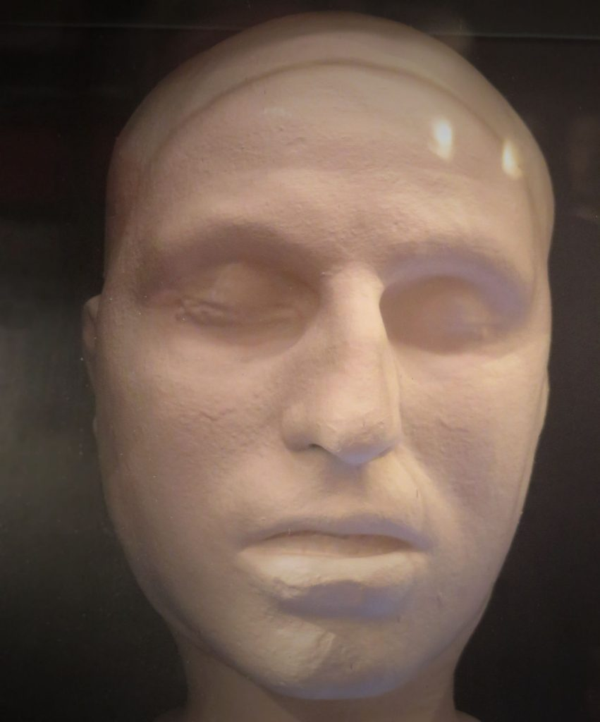 A wax death mask of the murderer, George Bryce.