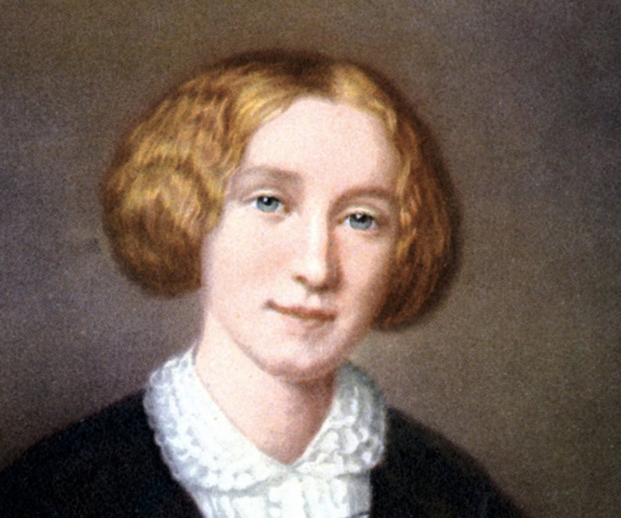 Colour portarit of a young woman with pale brown hair in a nineteenth century style
