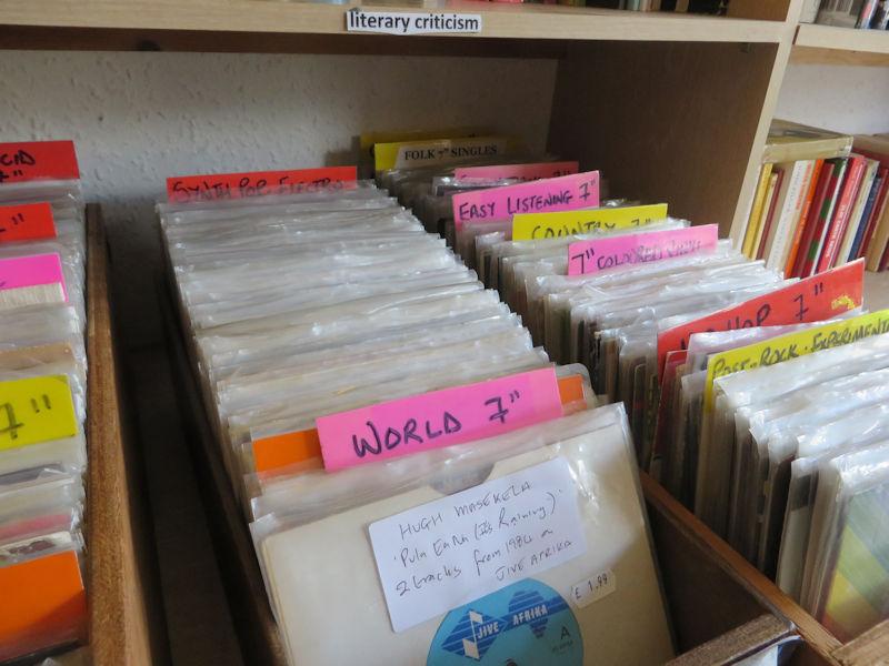Boxes of seven inch vinyl singles
